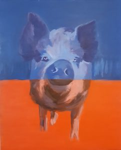 Porktret VI oil on canvas  85 x 70 cm