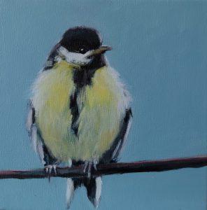 Birdie VI Oil on canvas 20 x 20 cm