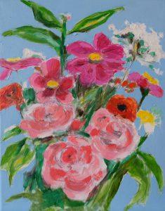 Flowers II oil on canvas 24 x 30 cm