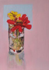 Flowers oil on canvas 24 x 30 cm